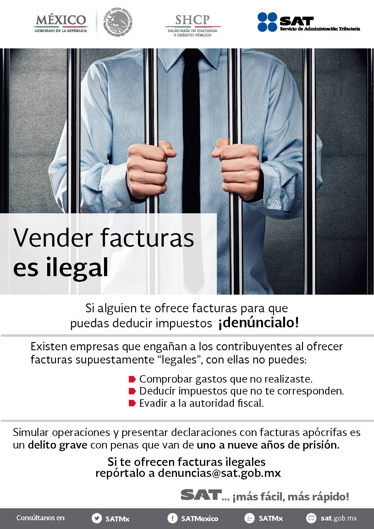 Vender Facturas es Ilegal